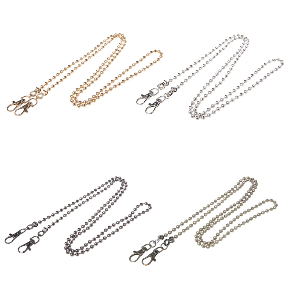 THINKTHENDO Long 120cm/50cm Luxury Fashion Metal Purse Chain Straps Handle Shoulder Bag Cross Body Replacement Handbag