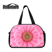 Dispalang 2017 vintage medium capacity cotton quality luggage duffle bags big floral women travel bag with shoe pocket wholesale