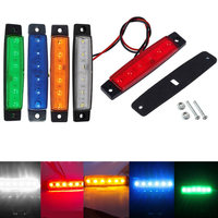 10Pcs Auto Car 12V 24V SMD 6 LED Rear Side Marker Light Position Truck Trailer Lorry