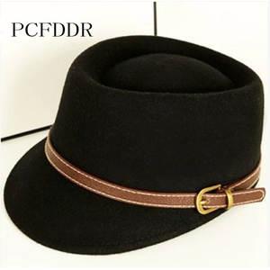 52a2ba4e7a6 PCFDDR Spring Autumn Wool Army Cap Male Female Retro Hat