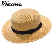 [Dexing] kobiet słomy Kanotier Kapelusze Moda szerokim rondem Kapelusze Panama Lato Dla Kobiet Chapeau Paille panie Słomy kapelusze
