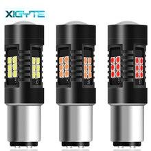 1pcs 1200Lm 1157 BAY15D Led P21/5W LED Bulbs 21SMD 3030 Car Reverse Lights Stop Tail Lamp Turn Signal Red Amber White 12V-24V
