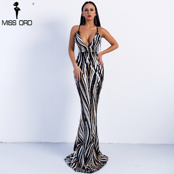 Sexy Graceful V Neck Off Shoulder Sequin Dresses Female Maxi Party Dress