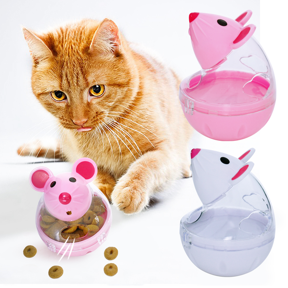 Hotsale Cat Tumbler Toy Mouse Food Dispenser Cute Interesting Funny Exercise