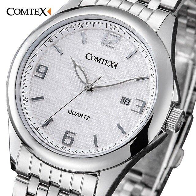975e14d9a94 Comtex Negócio Relógio dos homens Liga Número Romano Mostrador do Relógio  Analógico relógio de Pulso Movimento