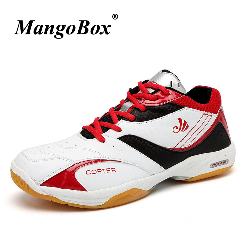 Mens Badminton Shoes Non-Slip Men Table Tennis Training Leather Pu Sport Sneakers Rubber Bottom Men Table Tennis Shoes Original