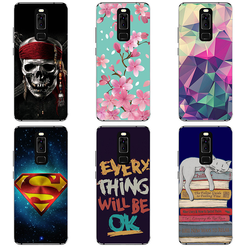 Soft Silicon Phone Case Cover For Leagoo S8 Phone Shell Colorful Printing Design Painted Soft TPU Case Shell Flower