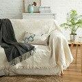 Белое  розовое  голубое трикотажное одеяло  банкет для кровати  100% хлопок  супер мягкое одеяло для кровати/дивана  покрывало  одеяло  130*180  чех...