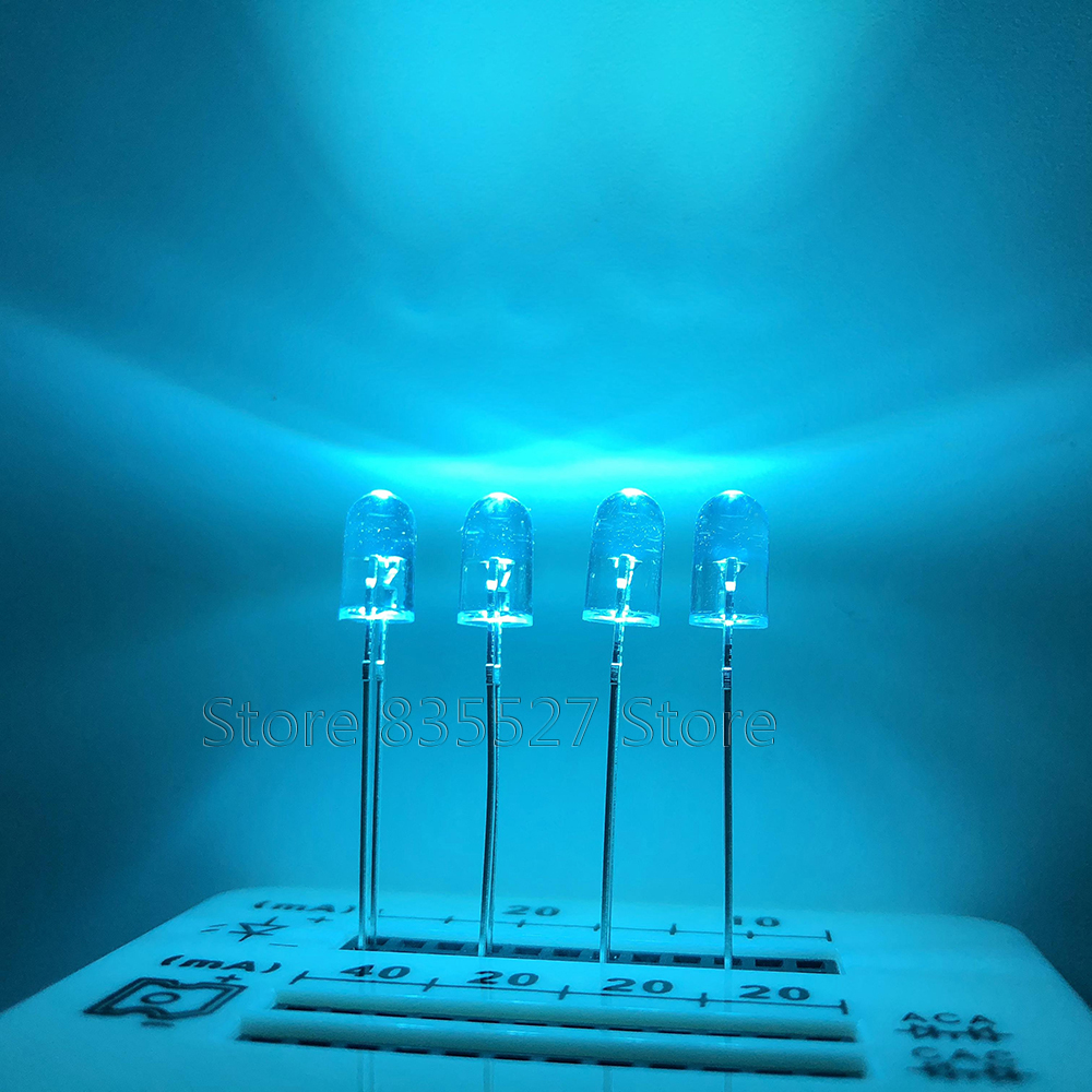 1000PCS F5 5MM Round Ice Blue Sky Blue Endless LED Light - Emitting Diodes Water Clear DIP Mechanical Keyboard Refitting Lamp