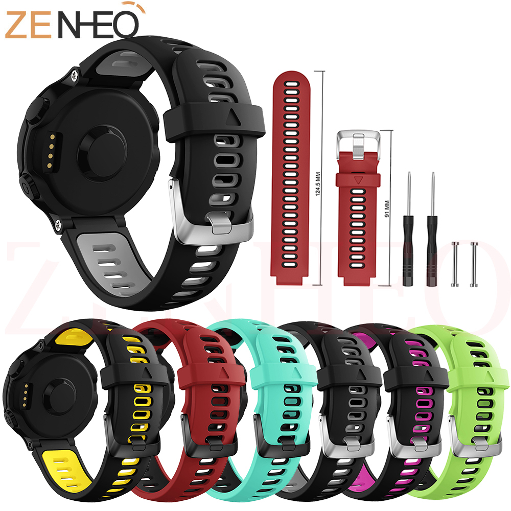 For Garmin Forerunner 235 Strap Replacement Silicone Watch Band Watchstrap for 735/220/230/235/620/630 Bands
