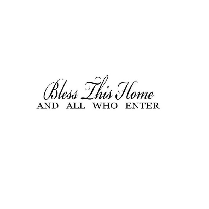 Bless This Home And All Who Enter Vinyl Wall Lettering Quotes Decals Stickers Decor In From Garden On Aliexpress