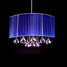 Modern Art Deco Wire Drawing Hanging luminaria led bulb Living room with aisle lights K9 crystal lustre Oval Ceiling Lights