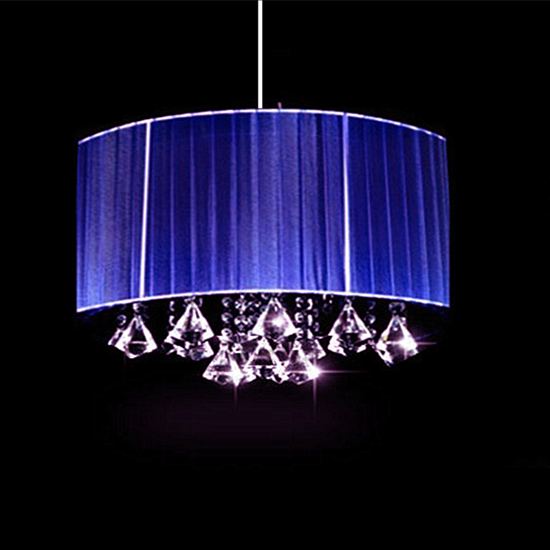 Modern Art Deco Wire Drawing Luminaria colgante bombilla led Sala de estar con luces de pasillo K9 lustre de cristal Oval Luces de techo