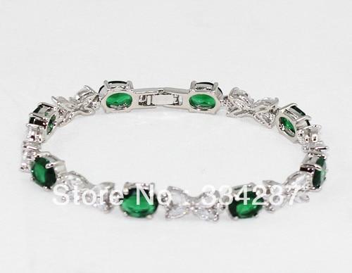 fast shipping Fine Jewelry CZ Crystal +  Bracelet