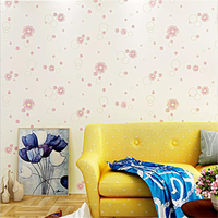 beibehang Adhesive self adhesive fine pressed non woven wallpaper warm pastoral small floral home decoration bedroom wallpaper