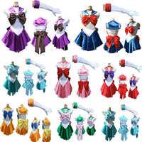 COSFANS 2018 Sailor Mond Japanischen Cartoon Film Cosplay Mädchen Mercury Mond Mars Kleid Ziemlich Soldat Sailor Moon