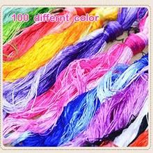 100 шт. шелковая вышивка/Сучжоу нить для вышивки/Обычная цветная шелковая нить/маленькие палочки для ручной вышивки