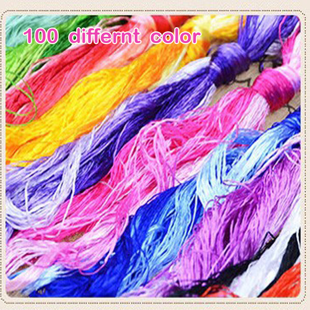 100 Pieces Silk Embroidery Suzhou Embroidery Thread Common Color