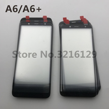 10 adet Orijinal yüksek kalite LCD Ön Dokunmatik Ekran Cam Dış Lens Samsung Galaxy A6 2018 A600 SM A600F A6 + A605 a605F