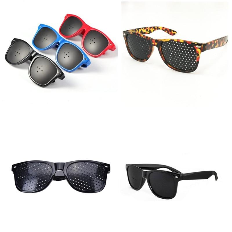Vision Care Pin Hole Eyeglasses Pinhole Glasses Plastic