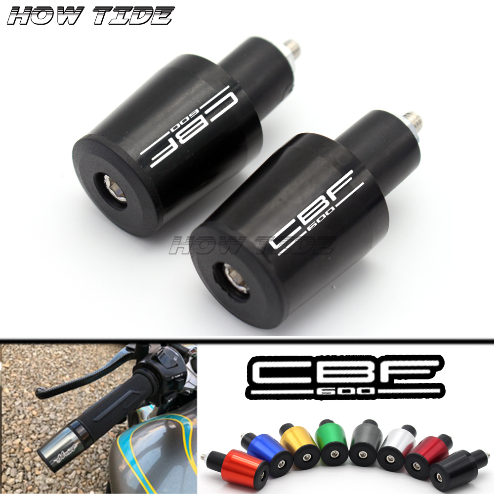 Motorcycle Accessories 7/8'' 22MM Handlebar Grips Handle Bar Cap End Plugs For Honda CBF600/SA CBF 600 2010-2013