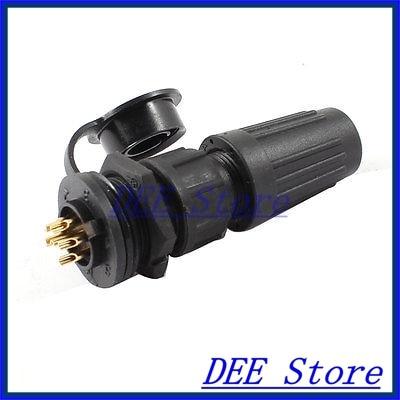 AC 125V/4A 6P Pins Waterproof IP67 Cable Gland Aviation Connector Plug w Cap cenmax vigilant v 6 a