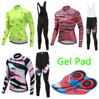 2018 Men Summer Long Sleeve Quick Dry Cycling Jersey 9D Gel Pad Racing Bike Clothing Maillot