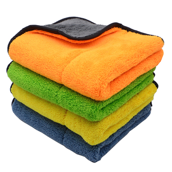 4PCS 800GSM 45x38cm Microfiber Towels Super Thick Plush Car Cleaning Cloths Auto Microfibre Wax Wash Polishing Detailing Drying image