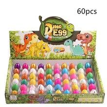 60 قطعة 2*3 سنتيمتر بيض الديناصور المياه تزايد لطيف ديناصور هدايا حفلات للأطفال ألعاب جديدة ديناصور إمدادات حفلات الاطفال اللعب هدايا عيد الميلاد
