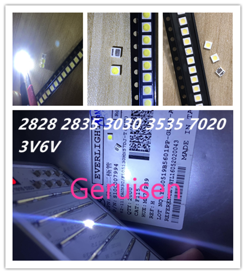 50pcs For Sharp Led Backlight High Power Led 0.8w 2828 6v Cool White 43lm Gm2cc3zh2eem Tv Application Moderate Price Diodes Active Components