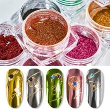 RBAN NAIL Mirror Nail Art Glitter Powder Holographic Metallic Rose Gold Sliver Dust Sequins UV Gel Chrome Pigment Decoratio