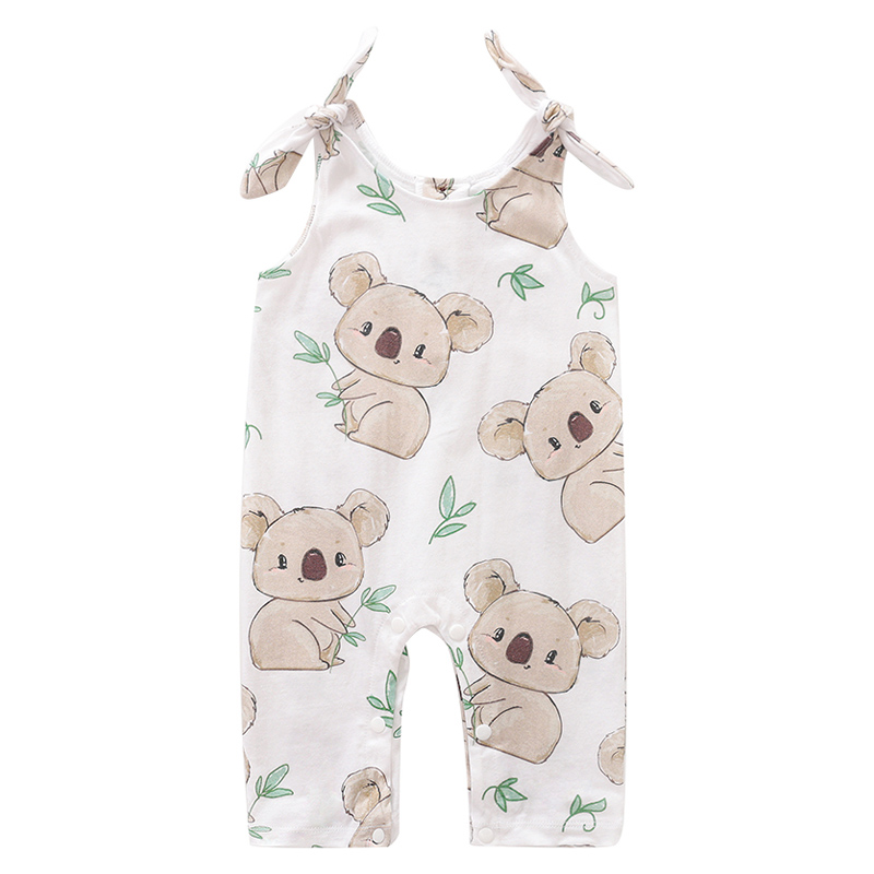 YiErYing Newborn 100% Cotton   Romper   Infant Toddler Baby Boy Girl Summer Sleeveless Jumpsuit Cute Clothes Koala printing Outfit