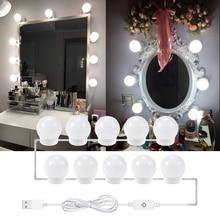 Vanity Led Bulb Mirror Light 2 6 10 14 PCS Ampoule Kit USB Plug Makeup Adjustable Brightness LED 12V Wall Lamp