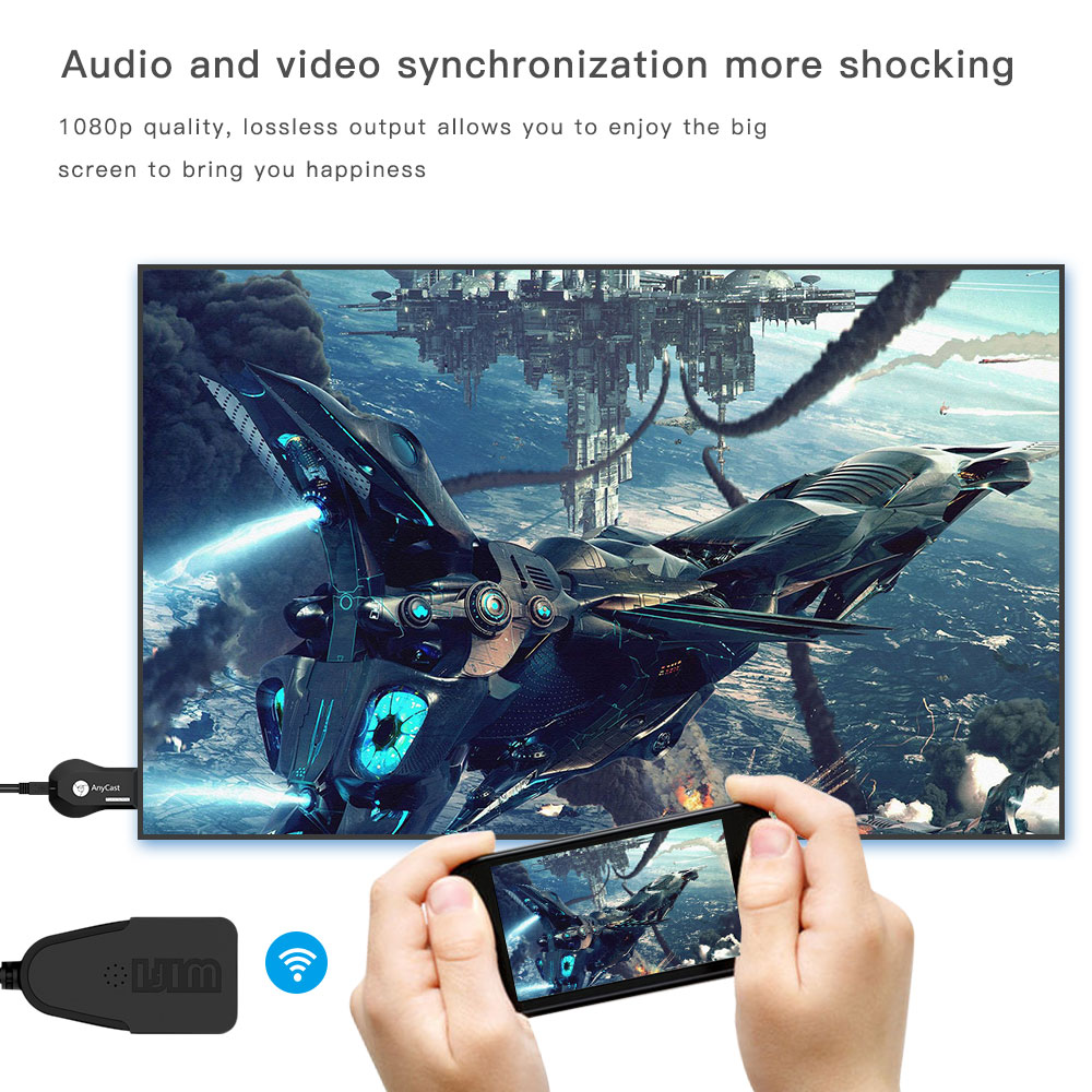 Anycast M4 Plus Drahtlose Hdmi Wifi Display Dongle Empfnger 1080 P Wireless Hd Tv Miracast Optionen Wie 3 In Airplay Modus Die Entspricht Dlna Knnen Sie Video Bilder Musik Von Android Gerte