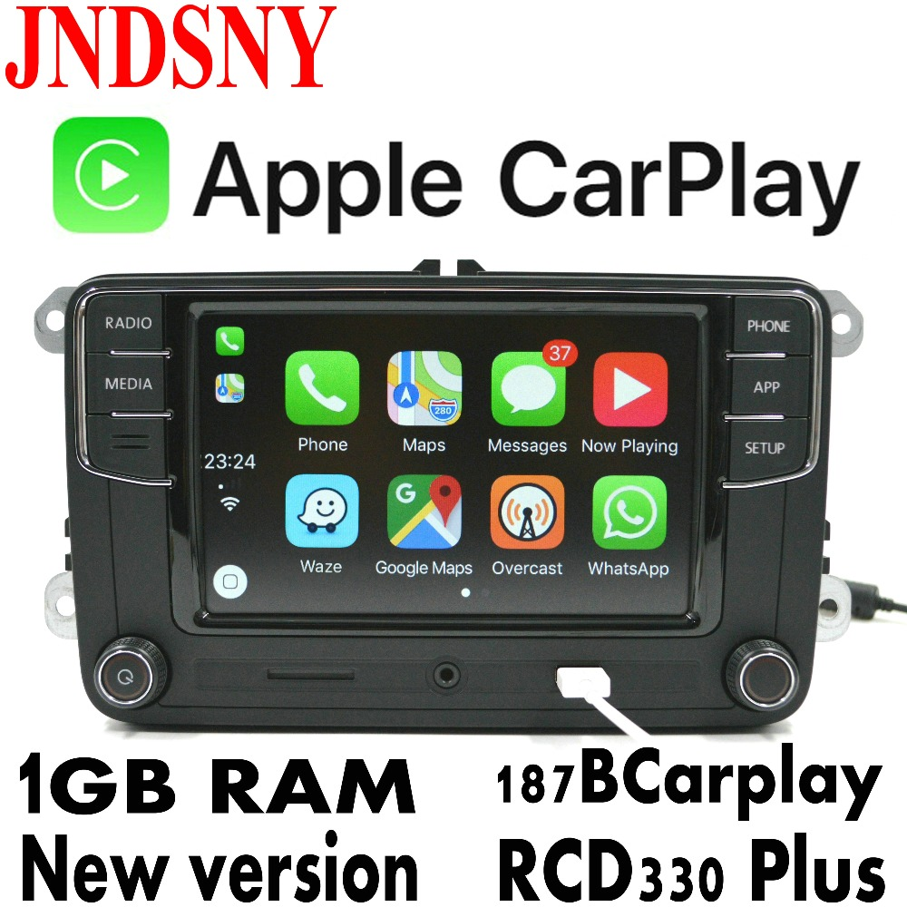 JNDSNY RCD330G CarPlay RCD330 Plus CarPlay Car Radio For VW Tiguan Golf 5 6 Jetta MK5 MK6 Passat Polo Touran 6RD 035 187B(China)