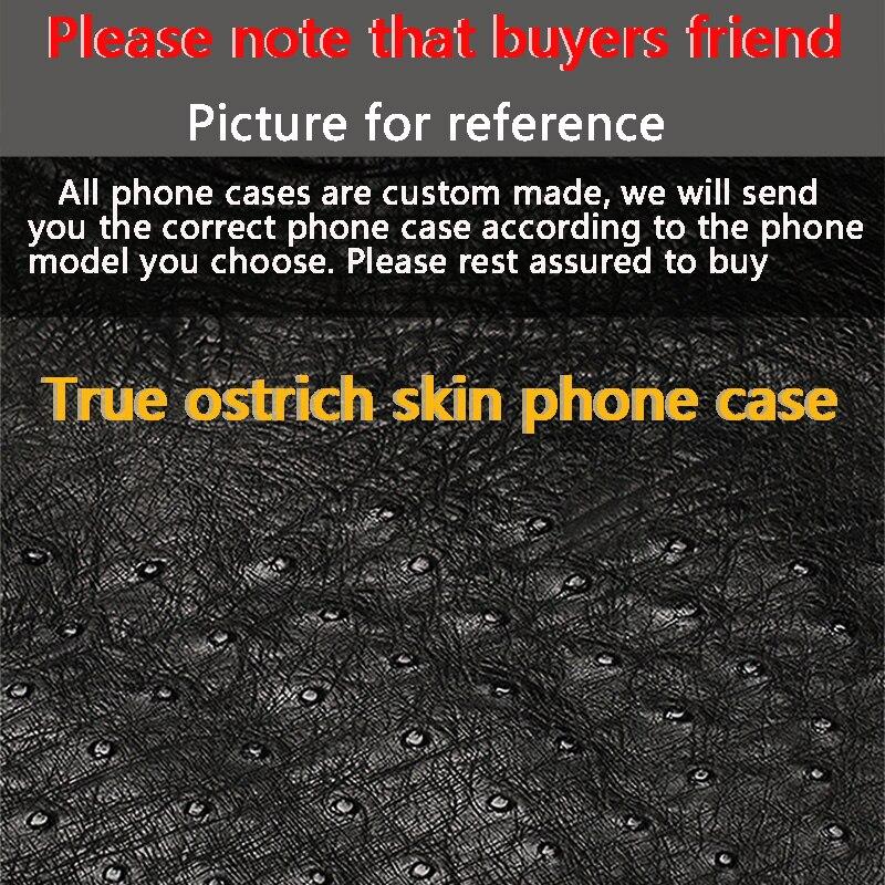 New mezza pacchetto cassa del telefono mobile per Huawei cassa del telefono P20 lite vera pelle di struzzo di Lusso Genuino del Cuoio del telefono caso di protezione - 6