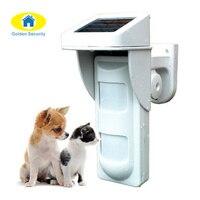 Wireless Outdoor Solar PIR Waterproof Pet Friendly Passive Infrared Detector IR Intruder Motion Detection Home Burglar