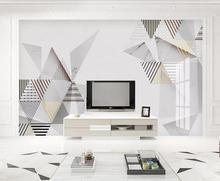 Private custom wallpaper mural modern geometric creative abstract jazz white marble bedroom living room background