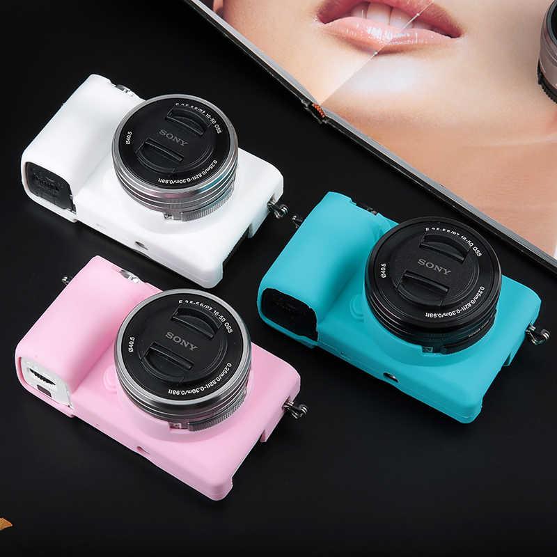 Câmera de borracha de silicone macio capa protetora para sony alpha a6400 a6000 a6300 a5000 a5100 a7m2 a7s2 a7r2 a7 mark ii 2 a7m3