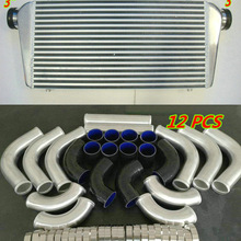 Intercooler turbo de alumínio, para 600x300x76mm in/out 3