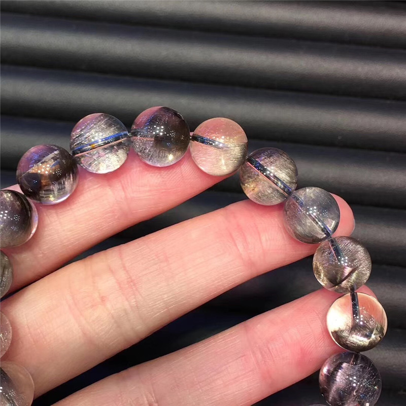 Natural Silver Rutilated Quartz Crystal Bracelet (3)