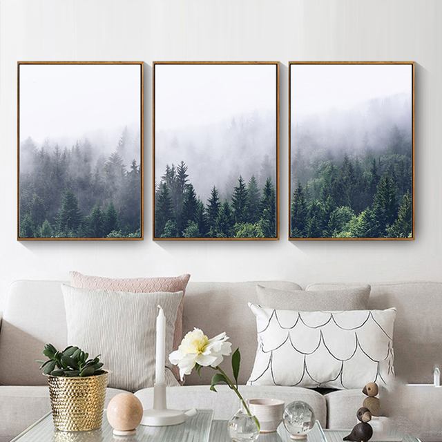 Nordic Poster Canvas Paintings Wall Art Pictures For Living Room Abstract Oil Painting Print Home Bedroom Decoration No Frame