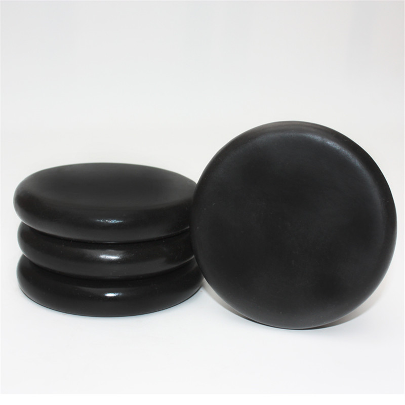 100% Natrual large hot spa black  basalt stone massage 10*10 cm