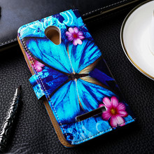 Painted PU Leather Cases For Micromax Canvas Spark Q380 Cases Covers Card Holders Phone Bags TPU Shell Wallet Flip Holster Shell