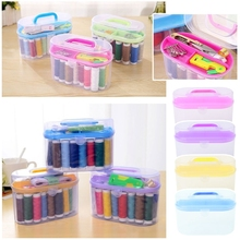 Sewing Kit Tool Storage Box Needle Thread Scissor Organizer Medicine Container Storage Box organizer стоимость