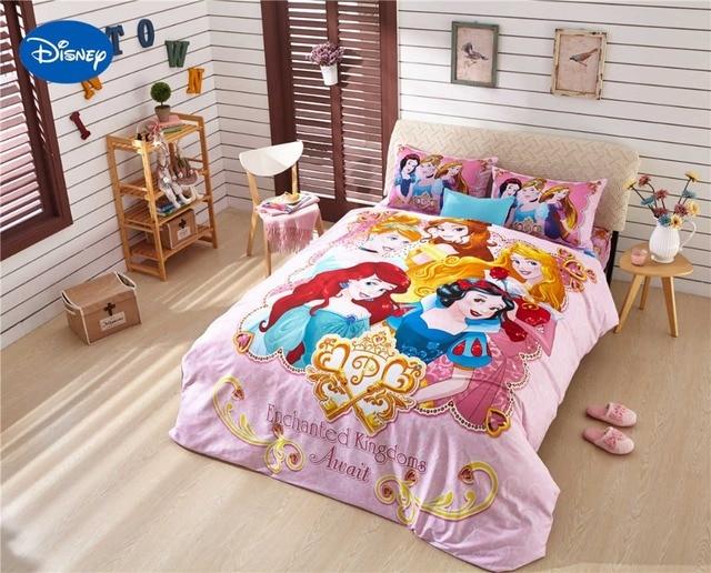 Populaire Dessin animé de Disney Imprimé Ensemble de Literie Princesse Coton  KD75
