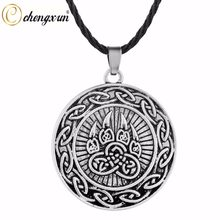 CHENGXUN joli pendentif patte d'animal pour garçons adolescents Collier Protection amulette nordique Viking païen en Rune Vintage bijoux hommes Collier(China)