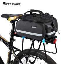 WEST BIKING Bicycle 3 in 1 Trunk Bag Road Mountain Bike Bag Cycling Double Side Rear Rack Luggage Carrier Tail Seat Pannier Pack(China)