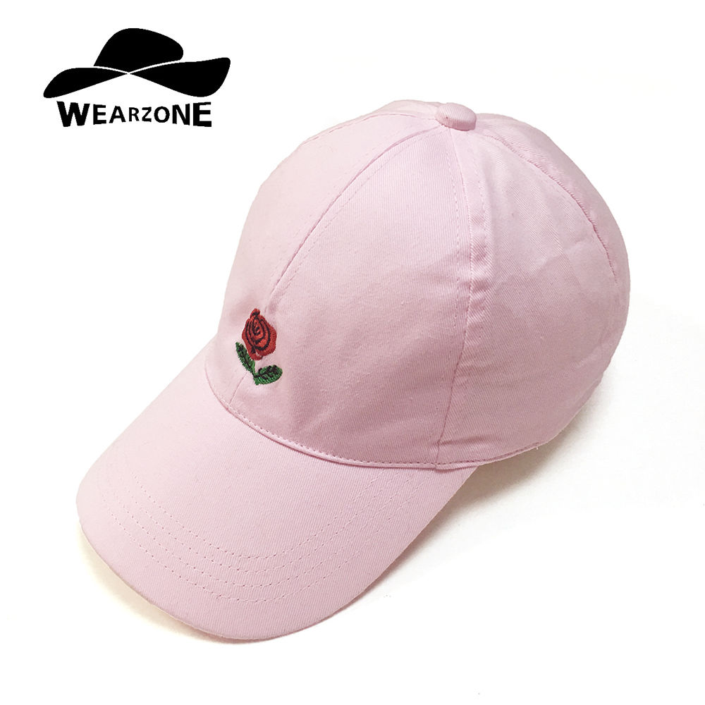2016 Feammal New Rose Floral Embroidered casquette polos Baseball Caps Cotton Strapback Black Pink rose for women Sport cap 2016 new new embroidered hold onto your friends casquette polos baseball cap strapback black white pink for men women cap