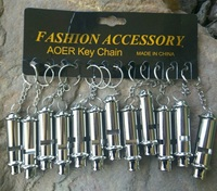 12PCS/LOT Stainless steel high-frequency high decibel whistle lifesaving metal outdoor survival whistle